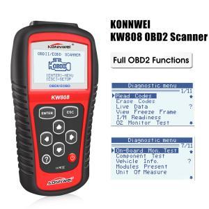 China Digital OBD Code Reader Diagnostic Tools Konnwei KW808 Large Backlit LCD Screen on sale