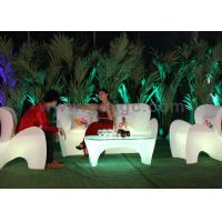 Rechargeable Outdoor plastic Sofa Lounge led Illuminated Modern Design