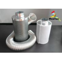 Best Zinc Anodized Steel Activated Charcoal Air Filter Efficiency With Cotton Mesh wholesale