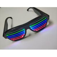 Best 2019Hot Sales New Style Voice-Activated LED flashing glasses Multi Colors Led RechargeableEye Glasses Led Party Glasses wholesale