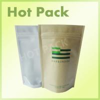 Best Custom Printed Kraft Paper Stand Up Tea Packaging Pouch With Clear Window wholesale