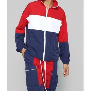 Best Slim Fit Polyester Casual Mens Sweatsuit Set , Comfortable Gym Suit For Mens wholesale