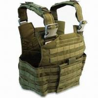 Best Tactical Vest with Pistol Magazine Pocket and Grenade Pouches, Made of 600D or 900D Polyester wholesale