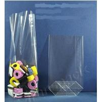 China OPP square bottom bag, perforated bags,bakery bags, gusset poly bags, cellophane bags on sale