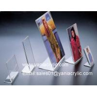 China Customized Lovely Book Display Laser Engraving acryl sign stand / Acrylic Brochure Holder on sale