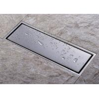 China Anti Clogging Rectangular Floor Drain Grate Fast Drainage No Mechanical Durability on sale