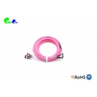 Buy cheap Female 50/125 LSZH OM3 48F 96F MPO MTP Trunk Cable from wholesalers