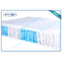70 Gram White / Blue Color 47cm Width PP Non Woven Fabric For Box Spring Cover