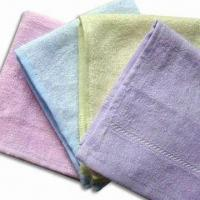 Best Bamboo Face Towels, Measures 27 x 27cm, Anti-bacterial and Mite, Various Colors are Available wholesale
