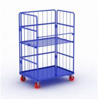 Best Metal Steel Roll Container Roll Trolley Pneumatic Wheel 200kg Load Capacity wholesale