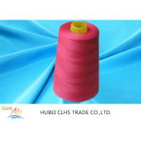 Best Red 100 Spun Polyester Sewing Thread Anti - Bacteria For Embroidery / Weaving wholesale
