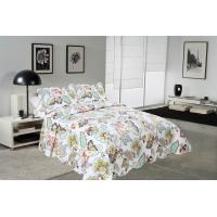 Best Big Cockscomb Flower Quilted Bed Covers , Full Size Bed Quilt Sets With ISO9001 Certification wholesale