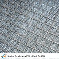 China Flat Top Crimped Wire Mesh |50X50mm Mesh Aperture Smooth Top Crim Wire Screen by Stainless Steel on sale