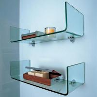 China Clear One Piece Tempered Glass Shelve 8MM Glass Bathroom Shelves on sale