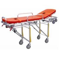 China Hospital Emergency Ambulance Stretcher Trolley Aluminum Alloy Automatic Loading Stretcher ALS-S004 on sale