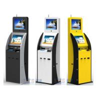 Buy cheap Airport / Bank / Hospital Dual Screen Kiosk Ticket Vending Kiosk With Vertical Ad Display product