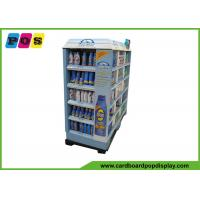 Point Of Purchase Cardboard Display Shelves Glossy Lamination For Coppertone Sun Cream PA009