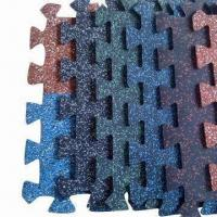 China Interlocking Rubber Flooring Tiles, Easy-to-install on sale