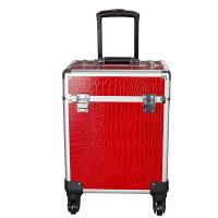 Best 4 Retractable Trays & 1 Smooth Sliding Large Capacity Makeup Train Case wholesale