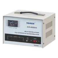 China Current Type Single Phase Stabilizer , AVR Automatic Voltage Stabilizer 220V AC 2000VA For Home Use on sale