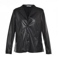 Best Slim Fitted Style Ladies PU Jackets / Womens Faux Leather Jackets Lapel Collar wholesale