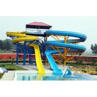 Best Custom Aqua Play Equipment Outdoor Twin Amusement Park Water Slides For Adults wholesale