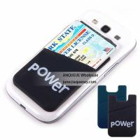Best 3M Sticker Silicone Smart Wallet Mobile Phone Silicone Case Wallet wholesale