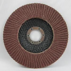 "China 4""x5/8"" 60#grit aluminum oxide  flap disc on sale"