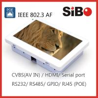 Best Wall Embedded 7 Inch Automation Application Touch Panel With Ethernet POE RS232 wholesale