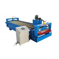 Buy cheap Trapezoidal Roof Wall Panel Roll Forming Machine Sheet Metal Roll Former Touch Screen product