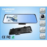 Cheap Slim Dual Camera Car DVR with 4.3 Inch TFT LCD Screen Rear View Recorder for sale