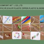 Buy cheap Garments Accessories PVC PE EVA PP Transparent Plastic Zipper Plastic Sliders product