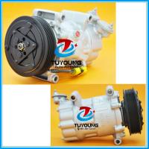 Best Sanden 6V12 1926 6453QG 6453QH 6453XJ auto ac compressor fit Fiat Qubo Citroen C2 C3 Peugeot 206 1007 9671456680 9800821 wholesale