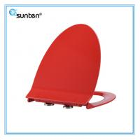 China Xiamen Soft Closing Feature Red Color Elongated V Shape Human Toilet Seat on sale