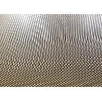 China Bronze Decorative Wire Mesh Architecture Crimped Metal Mesh For Elevator Cabins Screen on sale