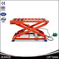 China Hot Sale 2000kg Heavy duty Hydraulic Lifting Scissor Electric Lift Platform With Roller on sale