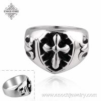 China Stylish Mixed Styles Cross Design Stainless Steel Finger Ring on sale