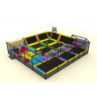 Best Commercial Soft Play Trampoline , Galvanized Steel Pipe Big Trampoline Park wholesale