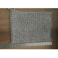 China 7*7 304 316 Stainless Steel Chainmail Scrubber For Kitchen Cleaning on sale