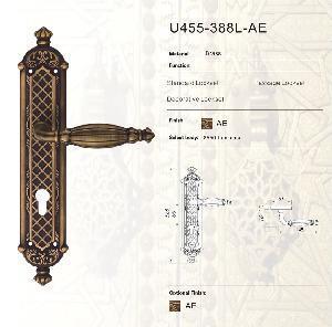 China Art Deco Handles for Bathroom Door Handle (U455-388L-AE) on sale