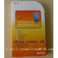 China Microsoft Office 2010 Key Code , FPP Key for Office Home Business 2010 Product Key Card Office 2010 Home Business PKC on sale