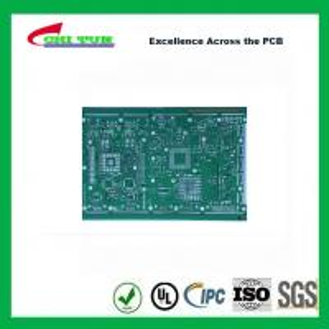 Best Single Layer PCB Design Bare FR4 1.6MM HASLPCB Green Solder Mask wholesale