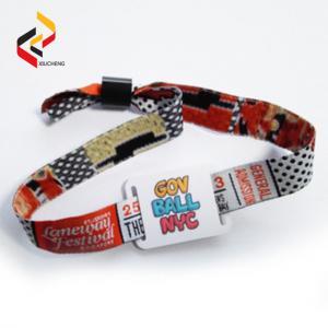 Best Adjustable NTAG213 Fabric Wristband Woven Wristband NFC Bracelet wholesale