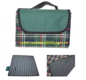 Buy cheap Tartan Outdoor Folding Picnic Mat , OEM Foldable Picnic Mat Rectangular Shape from wholesalers