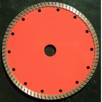China Red 7 Inch   Turbo Diamond Saw Blade For Granite  ,  230mm Concrete Grinding Disc on sale