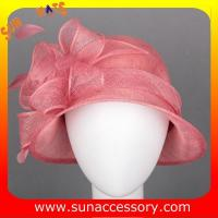 Best New design elegant cloche sinamay Church hats for girls ,Summer fancy trendy for ladies wholesale