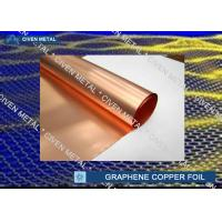 China Red Copper Foil Sheet Rolls For Graphene 0.015 - 0.05mm Thickness on sale