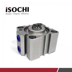 China High Precision Small PCB Thin Micro Pneumatic Air Cylinder Silver Aluminium on sale