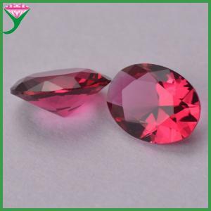 Best wholesale oval egg diamond cut rose colored glass semi-precious stone wholesale