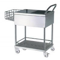 China Two Layers Stainless Steel Medical Hospital Trolleys With One Stainless Basket on sale